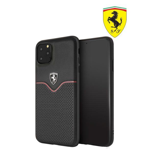 Ferrari Off Track Victory Pu Leather Case Black - Casing IPhone 11 Pro Max 6.5