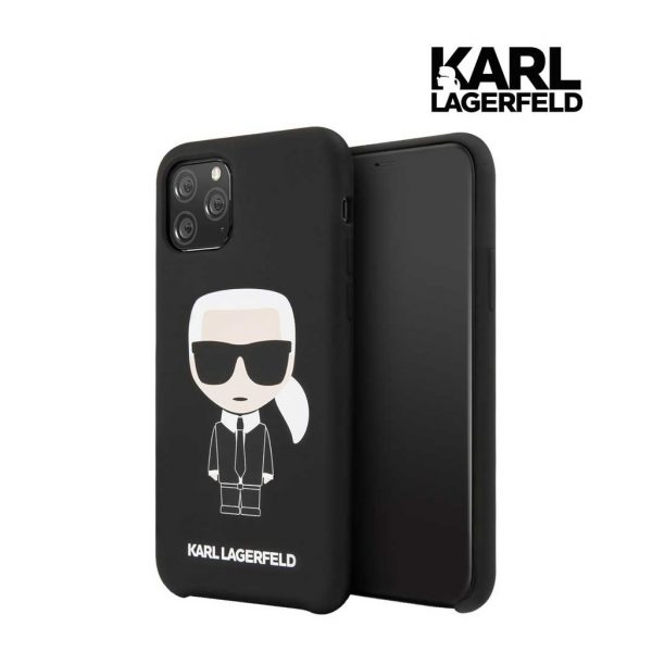 Karl Lagerfeld Silicone Karl Full Body Case Black - Casing IPhone 11 Pro Max 6.5