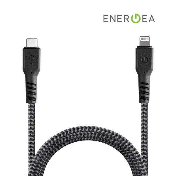 Energea Fibratough Sync Cable USB-C to Lightning 8Pin 1.5mtr Black