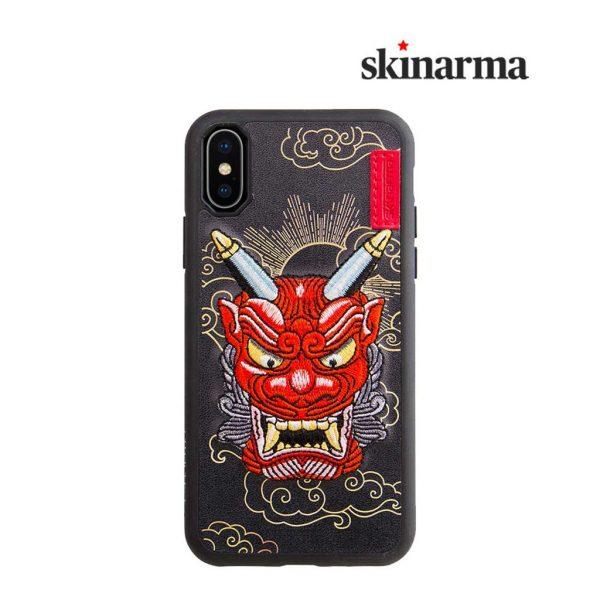 Skinarma Yokai Leather Case Akki Red - Casing iPhone XR