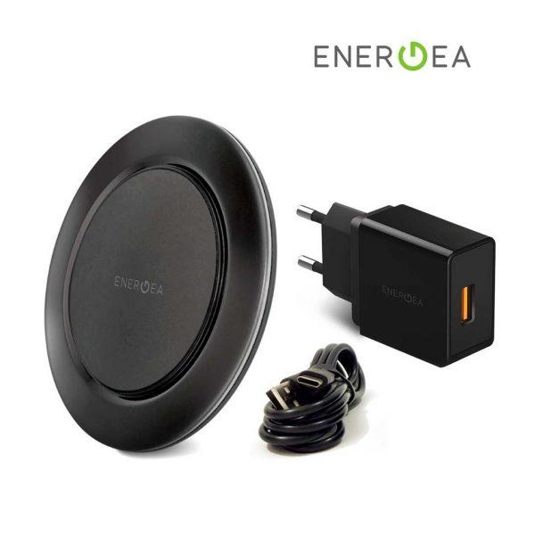 Energea - Widisc Fast Wireless Charging Kit - Black