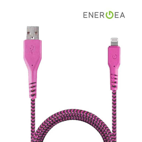 Energea Fibratough Sync Cable 8 Pin 1.5m Pink