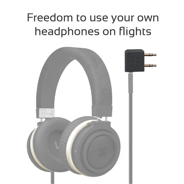 Aircraft Headphone Adapter airGear Hitam PROMATE