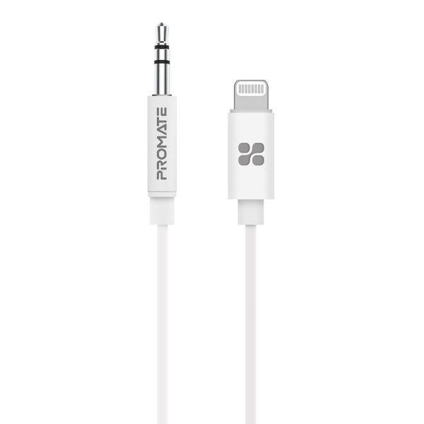 Kabel Audio iPhone Adapter AudioLink Putih ORI PROMATE