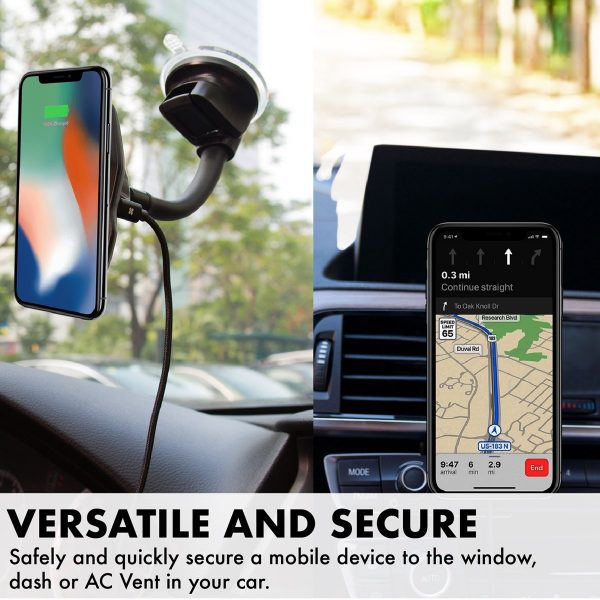 Magnetic Car Mount Wireless Charging AuraMount PROMATE