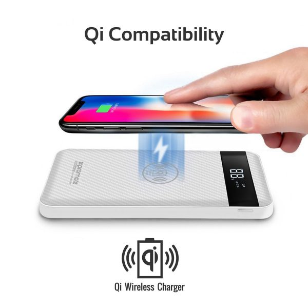 Power Bank Wireless 10000 mAh AuraPack Putih PROMATE