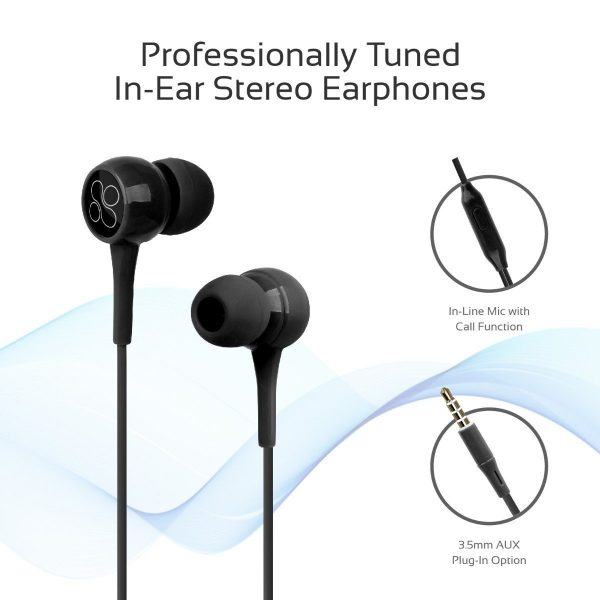 Wired Earphone Stereo Black PROMATE