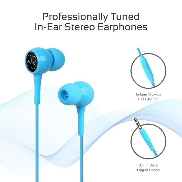 Wired Earphone Stereo Blue PROMATE