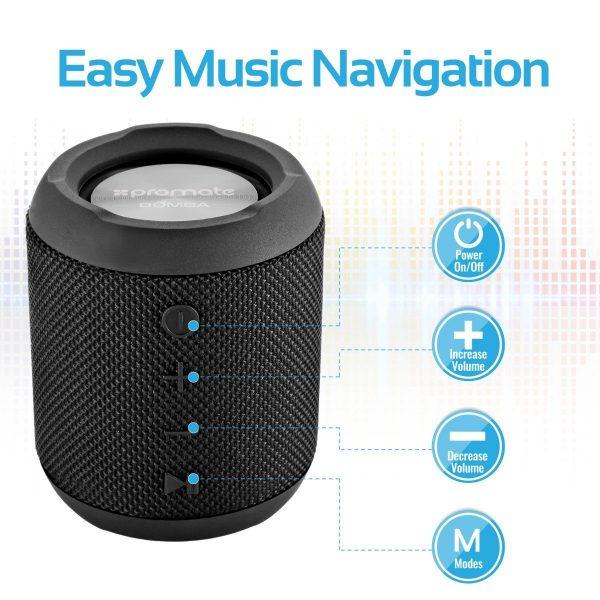 Wireless Bluetooth Speaker Waterproof ORI Hitam PROMATE