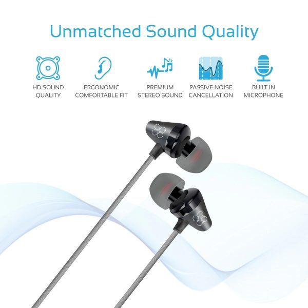 Wired Earphone Stereo In Ear Hitam PROMATE