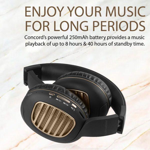 Wireless Bluetooth Headphone Stereo On Ear Gold PROMATE