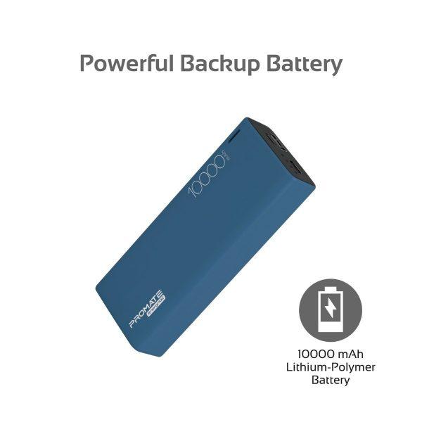 Power Bank 10000 mAh Ultra Slim Energi Biru PROMATE