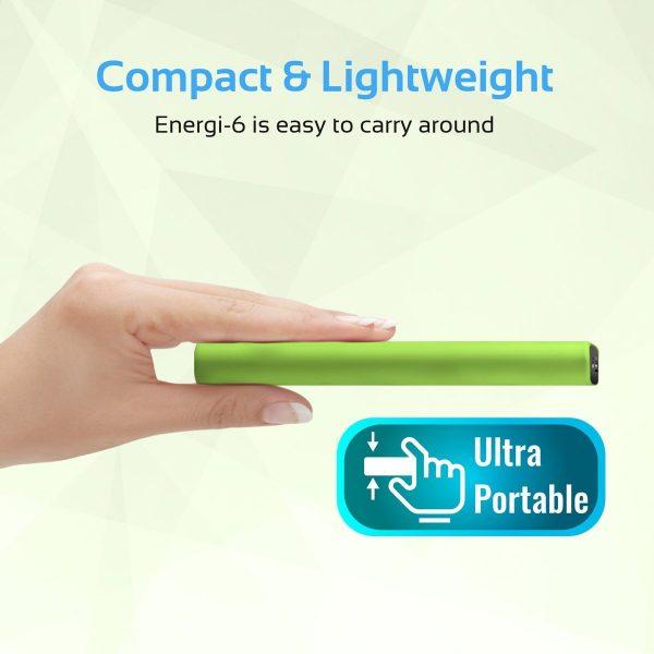 Power Bank 6000 mAh Ultra Slim Energi Hijau PROMATE