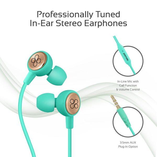 Wired Earphone Stereo Hijau PROMATE