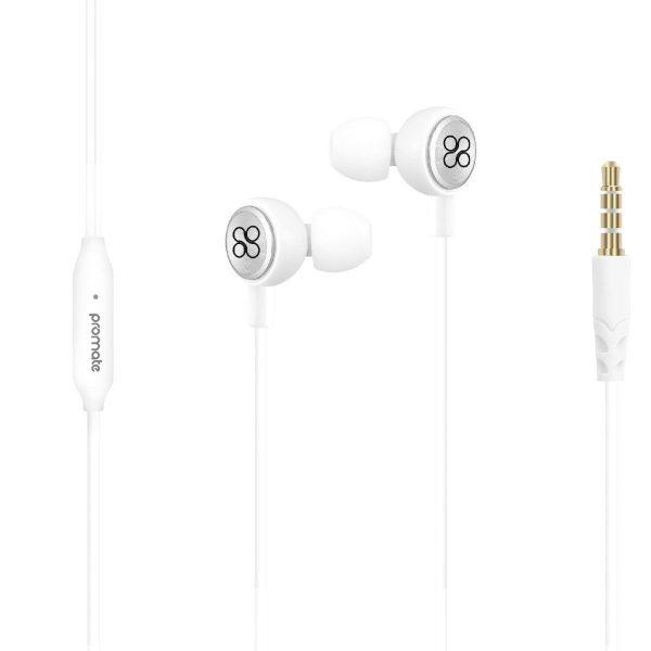 Wired Earphone Stereo Putih ORI PROMATE
