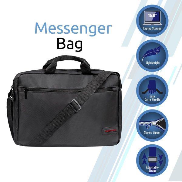 Laptop Messenger Bag Gear Hitam PROMATE