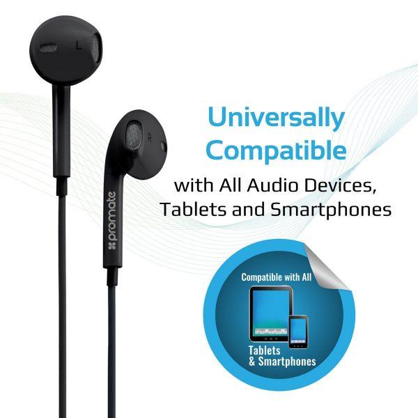 Wired Earbud Stereo In Ear gearPod Hitam PROMATE