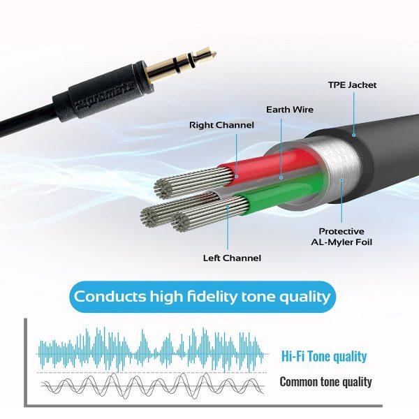 Kabel Audio 3.5mm Jack 1.5 m linkMate Hitam PROMATE