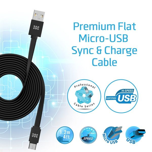 Kabel Data Charger Micro USB linkMate Hitam PROMATE