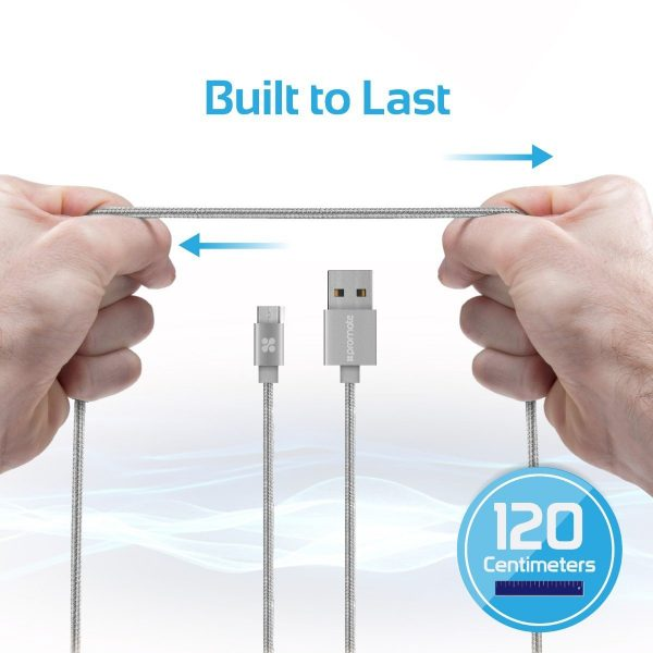 Kabel Data Charger Micro USB linkMate Silver PROMATE