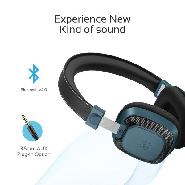Wireless Bluetooth Headphone Stereo On Ear Melody Biru PROMATE