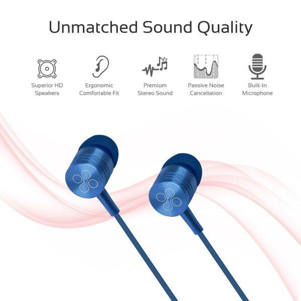 Wired Earphone Stereo In Ear Blue PROMATE