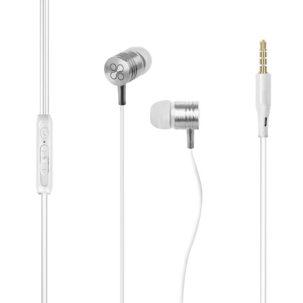 Wired Earphone Stereo In Ear White PROMATE