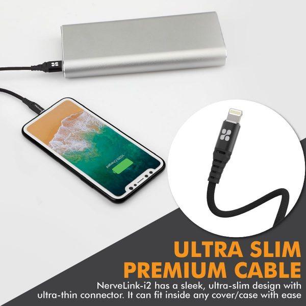 Kabel Data iPhone 2m Slim NerveLink Hitam PROMATE
