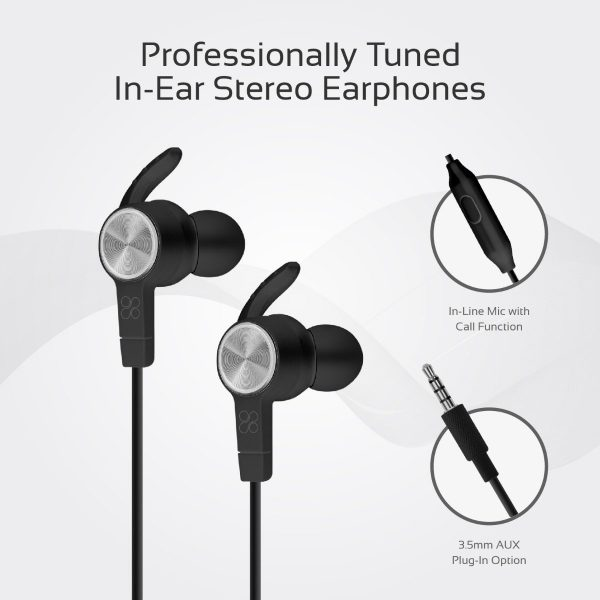 Wired Earphones Stereo Hitam PROMATE