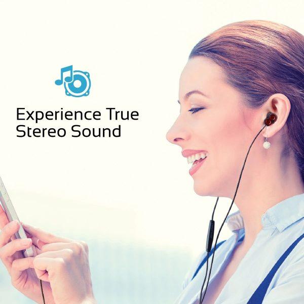 Wired Earphone Double Bass Stereo In Ear Marun PROMATE