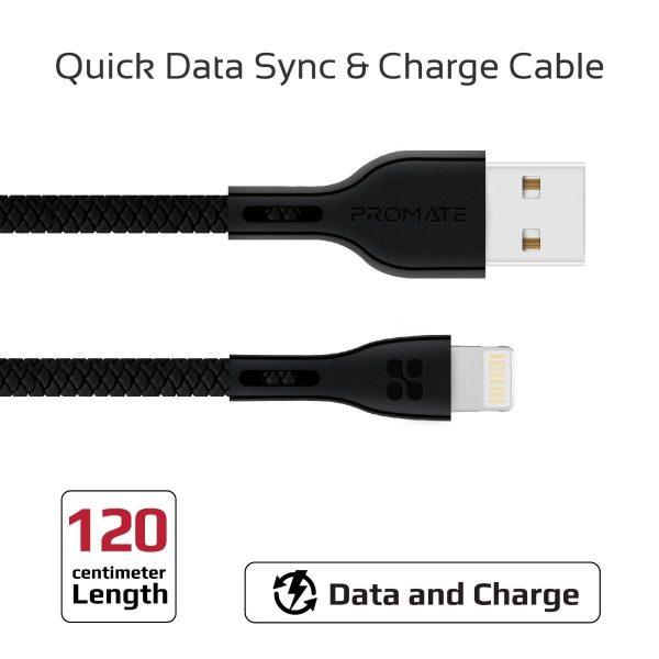 Kabel Data Charger iPhone PowerBeam Hitam PROMATE