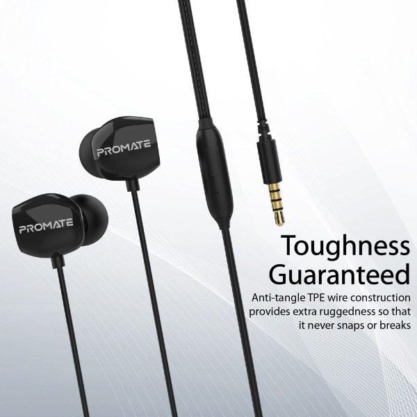 Wired Earphone Stereo In Ear Hitam ORI PROMATE
