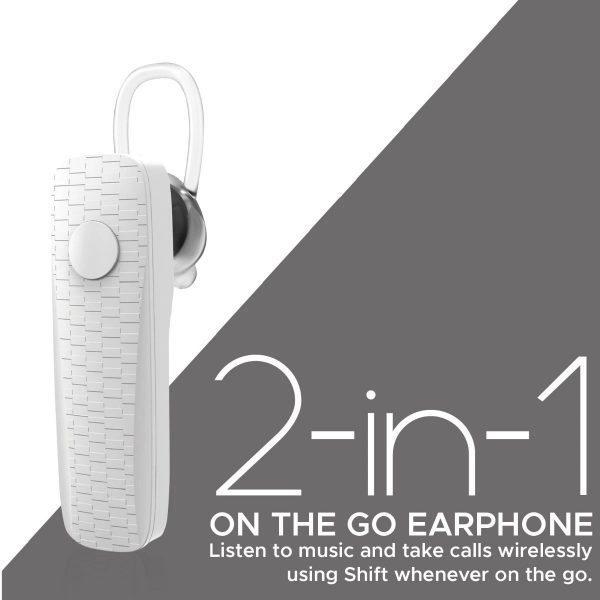 Wireless Bluetooth Earphone Mono In Ear Putih PROMATE
