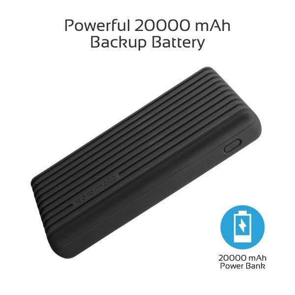 Power Bank 20000 mAh High Capacity Titan Hitam PROMATE