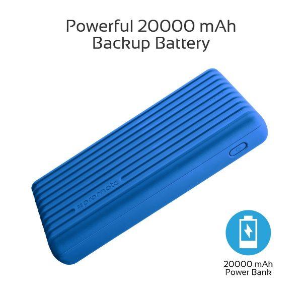 Power Bank 20000 mAh High Capacity Titan Biru PROMATE