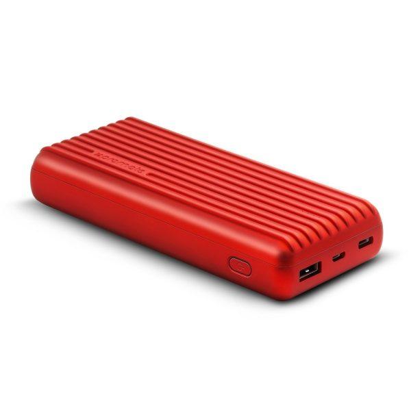 Power Bank 20000 mAh High Capacity Titan Merah PROMATE