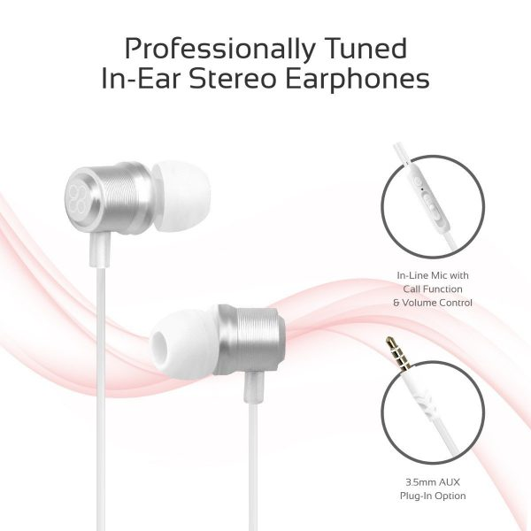 Wired Earphone Stereo Putih PROMATE