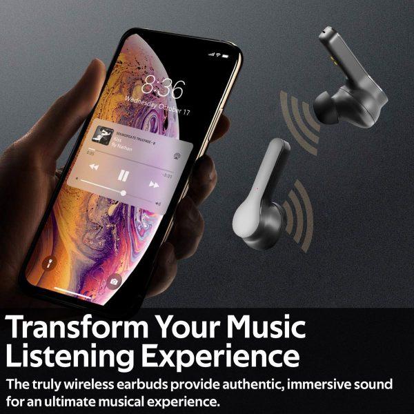 Wireless Bluetooth TWS Earbud Stereo TrueBlue Hitam PROMATE