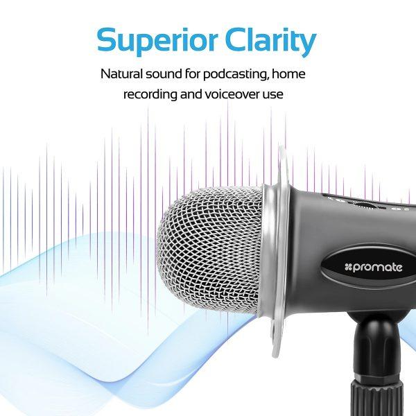 Desktop Condenser Microphone Tweeter Hitam PROMATE