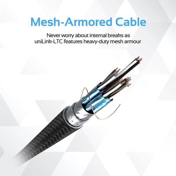Kabel Data OTG iPhone 2m USB Type C uniLink Hitam PROMATE