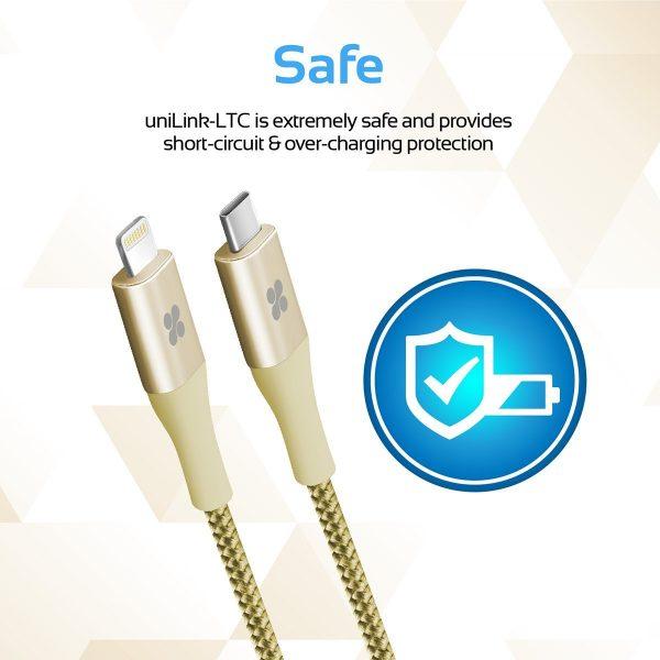Kabel Data OTG iPhone 2m USB Type C uniLink Gold PROMATE