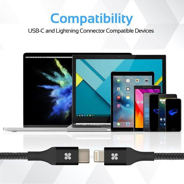 Kabel Data OTG iPhone USB Type C uniLink Hitam PROMATE