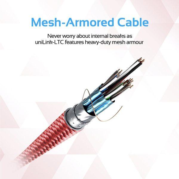 Kabel Data OTG iPhone USB Type C uniLink Merah PROMATE