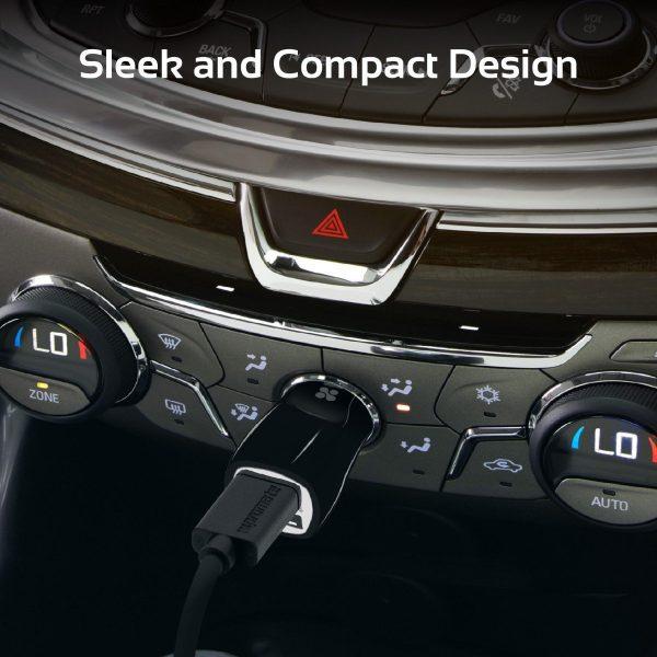 Car Charger 2 USB Ports Hitam PROMATE