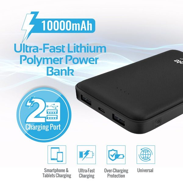 Power Bank 10000 mAh Ultra Fast volTag Hitam PROMATE