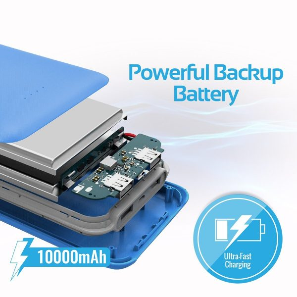 Power Bank 10000 mAh Ultra Fast volTag Biru PROMATE