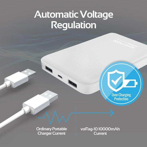 Power Bank 10000 mAh Ultra Fast volTag Putih PROMATE